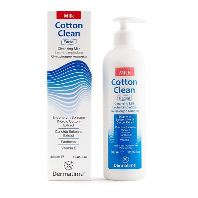 COTTON CLEAN CLEANSING MILK – ОЧИЩАЮЩЕЕ МОЛОЧКО, 380мл - DERMATIME