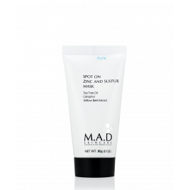 Spot On Zinc and Sulfur Mask – Подсушивающая маска с цинком и серой, 60 гр. - M.A.D. SKINCARE